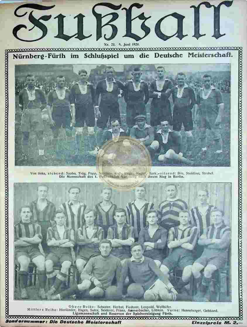1920 Juni 9. Fußball Nr.23