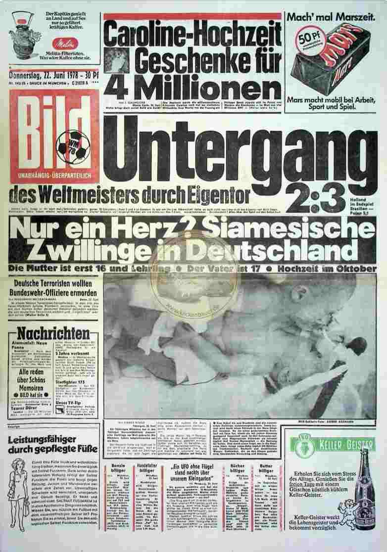 1978 Juni 22. Bildzeitung