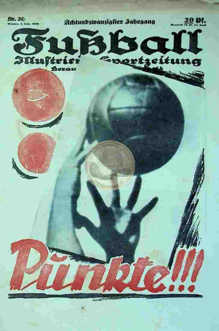 1938 September 6. Fußball Nr. 36