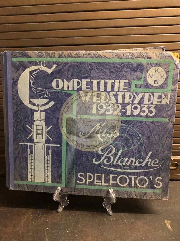 """Sammelalbum Miss Blanche """"Competitiewedstrijden 1932-1933"""" mit 100 schönen Spielfotos - Komplettes Album aus dem Jahr 1933"""