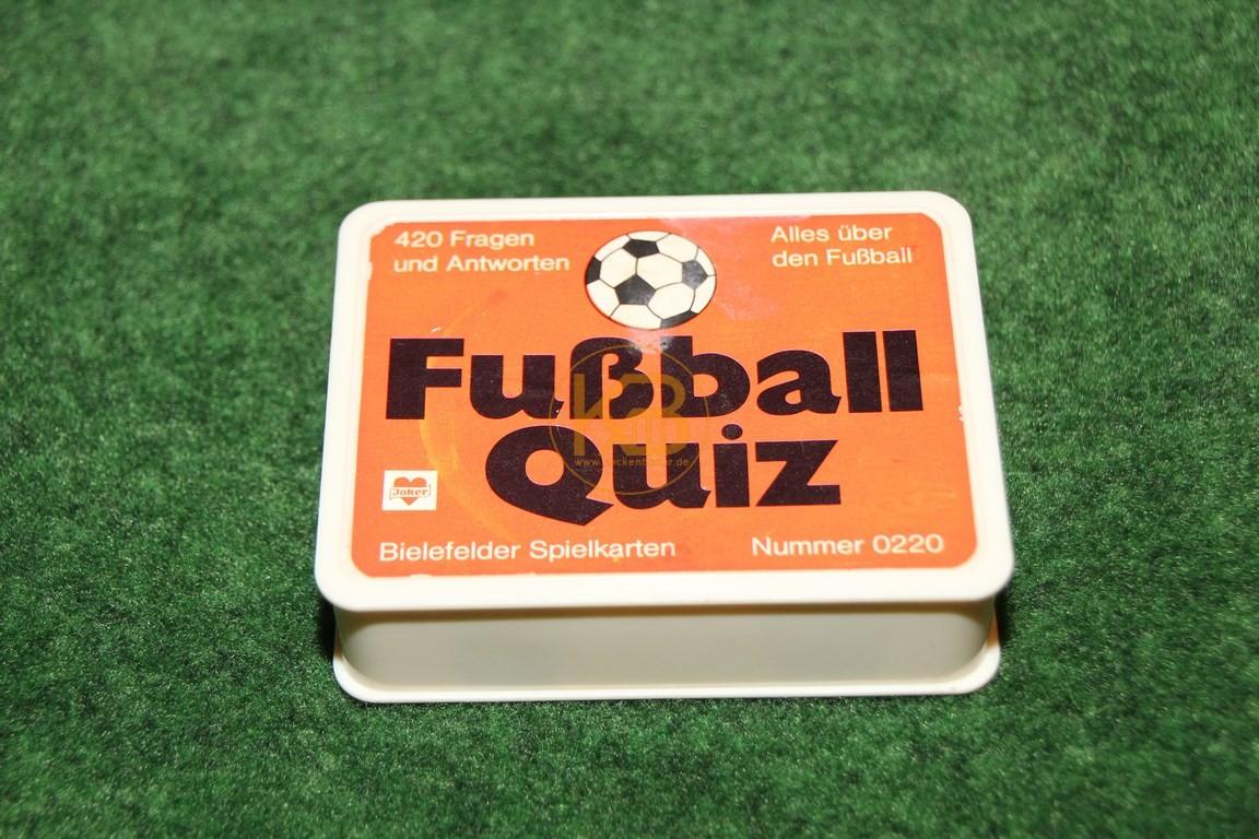 Fußball Quiz 0220 von Bielefelder Spielkarten ca. aus den 1980ern. 420 Fragen und Antworten. Alles über Fussball.