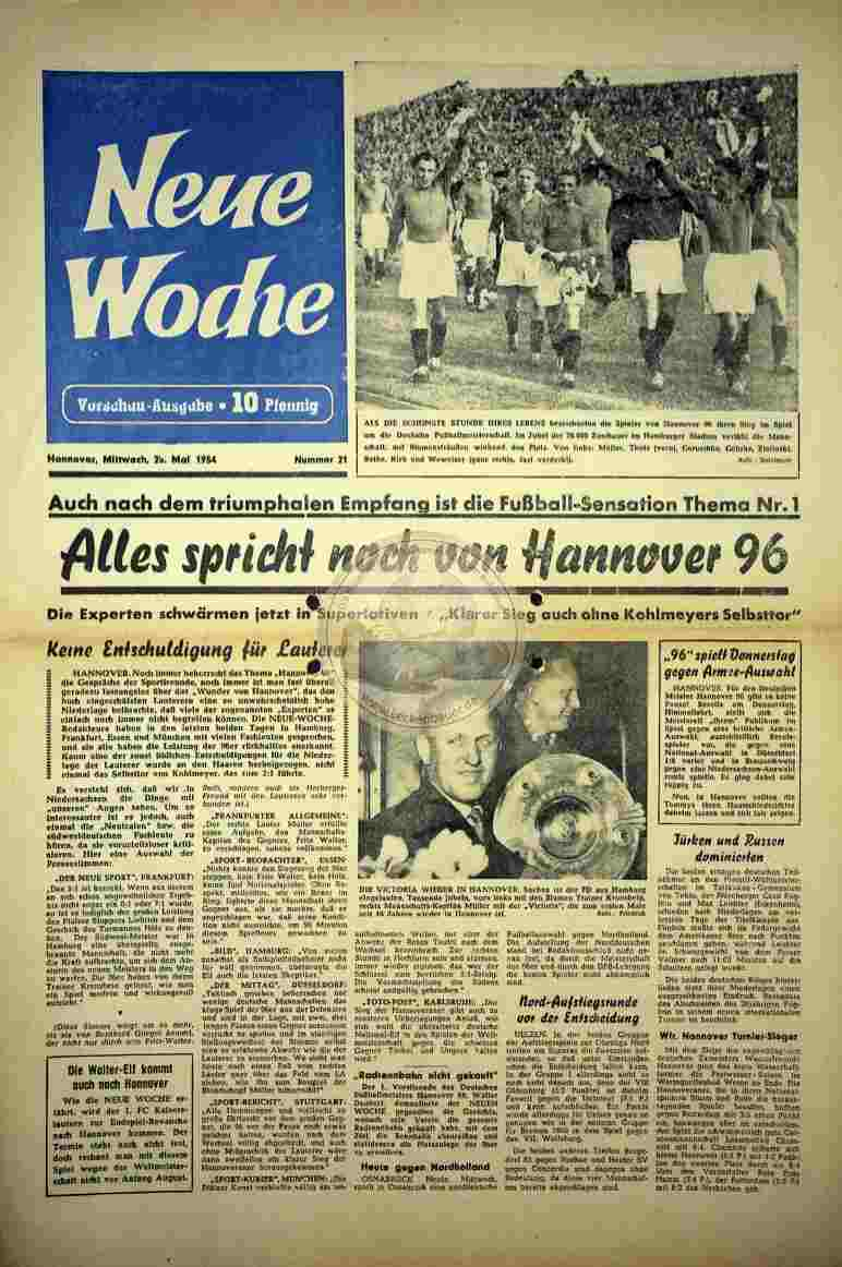 1954 Mai 25. Neue Woche Nr. 21