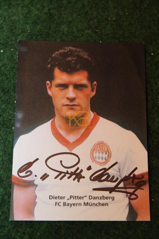 """Original Autogramm von Dieter """"Pitter"""" Danzberg."""