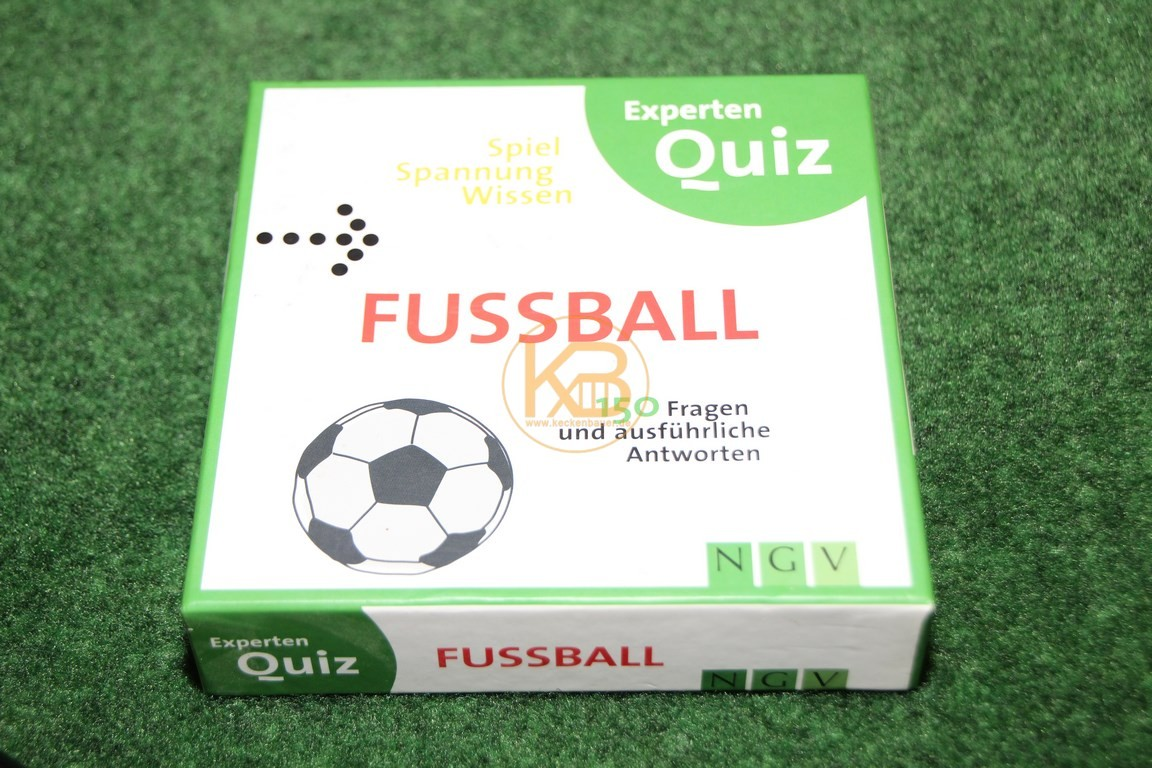 Fussball Experten Quiz von NGV aus den 2000ern. 150 Fragen und ausführliche Antworten.