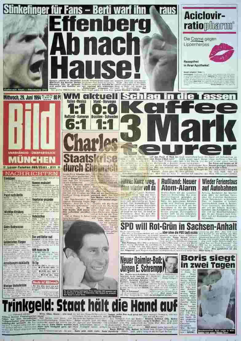 1994 Juni 29. Bildzeitung