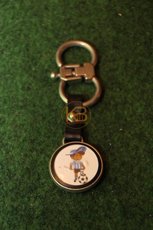 Schlüsselanhänger des WM Maskottchen Gauchito zur WM 1978 in Argentinien.
