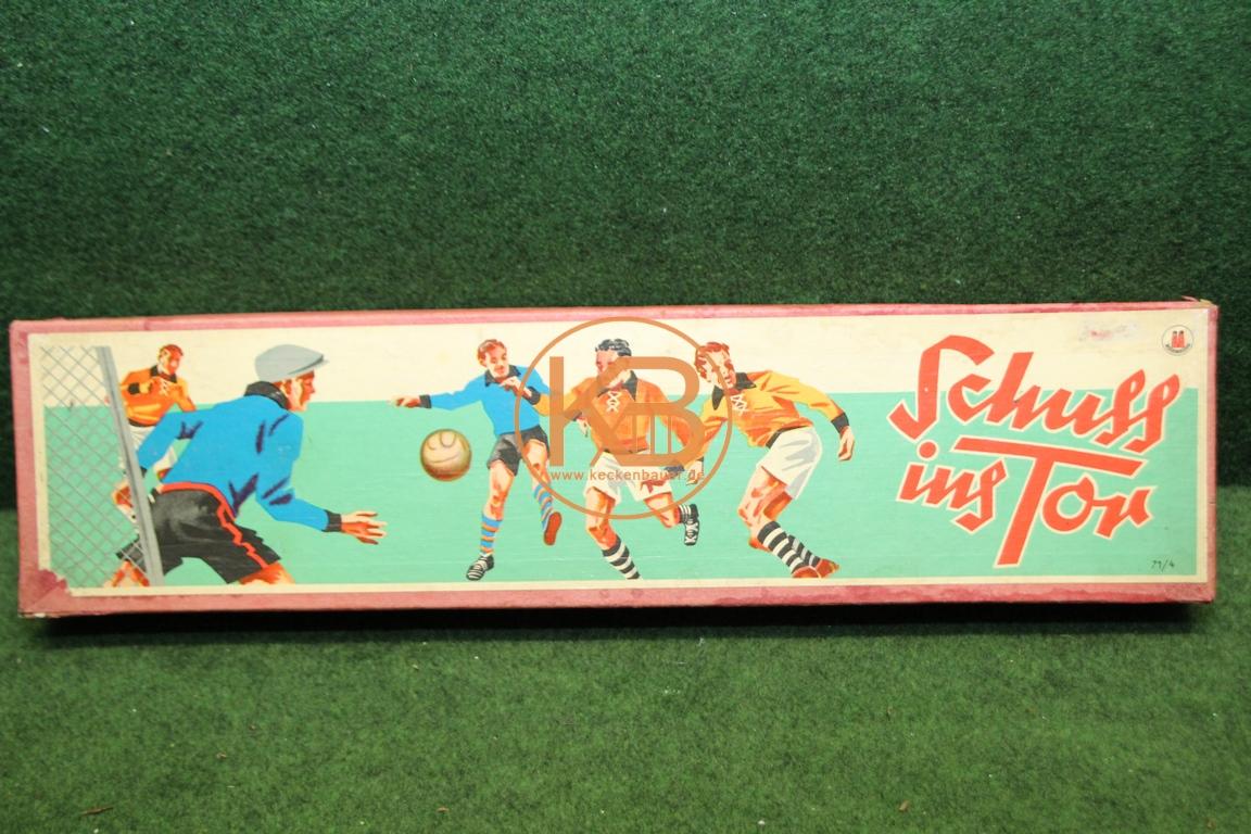 Tischkickspiel Schuß und Tor aus den 1950ern