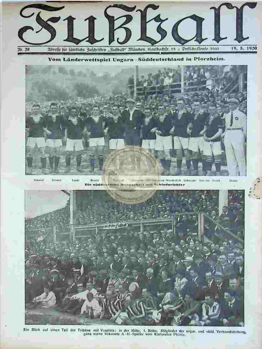 1920 Mai 19. Fußball Nr.20