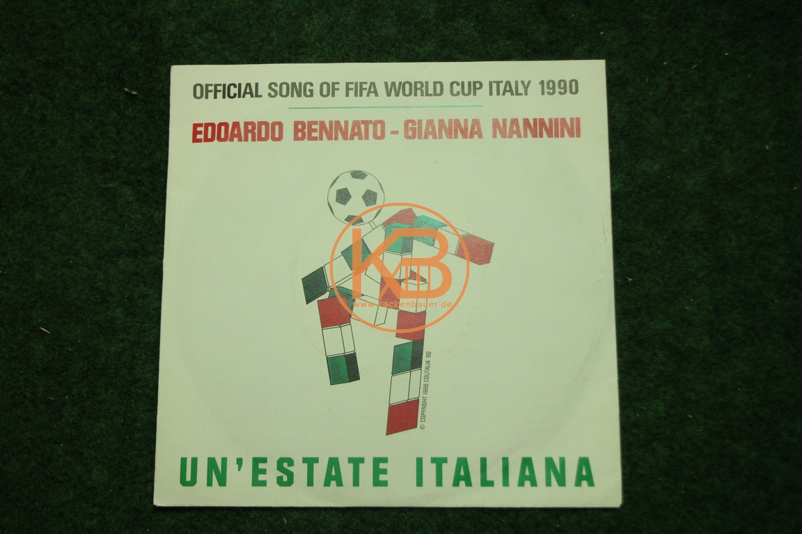 Fußball-Single Un`estate Italiana WM Song 1990 Bennato/Nannini