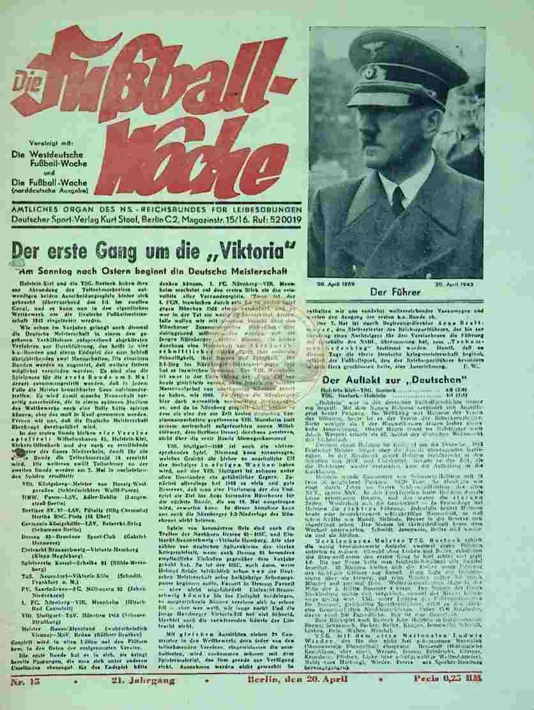 1943 April 20. Die Fußball-Woche Nr. 15