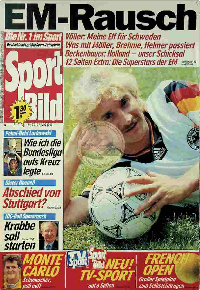1992 Mai 27. Sport Bild Nr.23