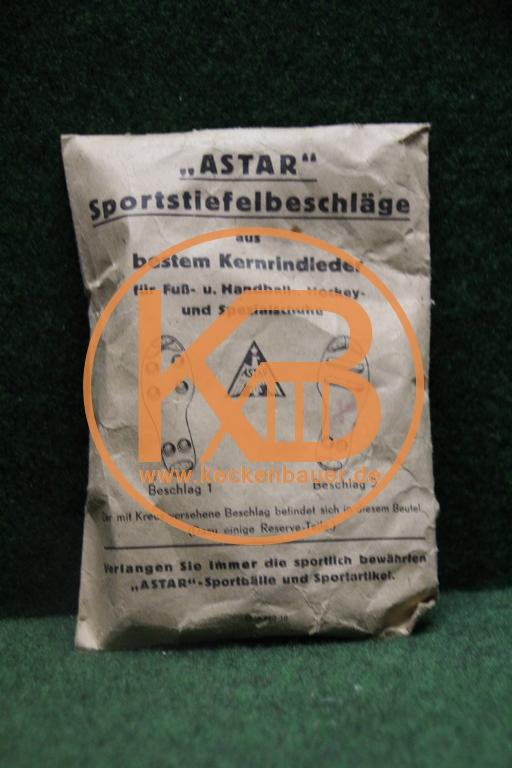 Astar Sportstiefelbeschläge aus besten Kernrindleder aus den 1930ern