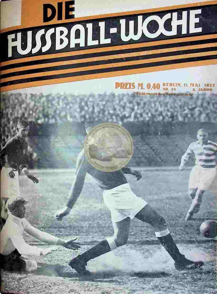 1927 Mai 11. Fussball-Woche Nr. 38