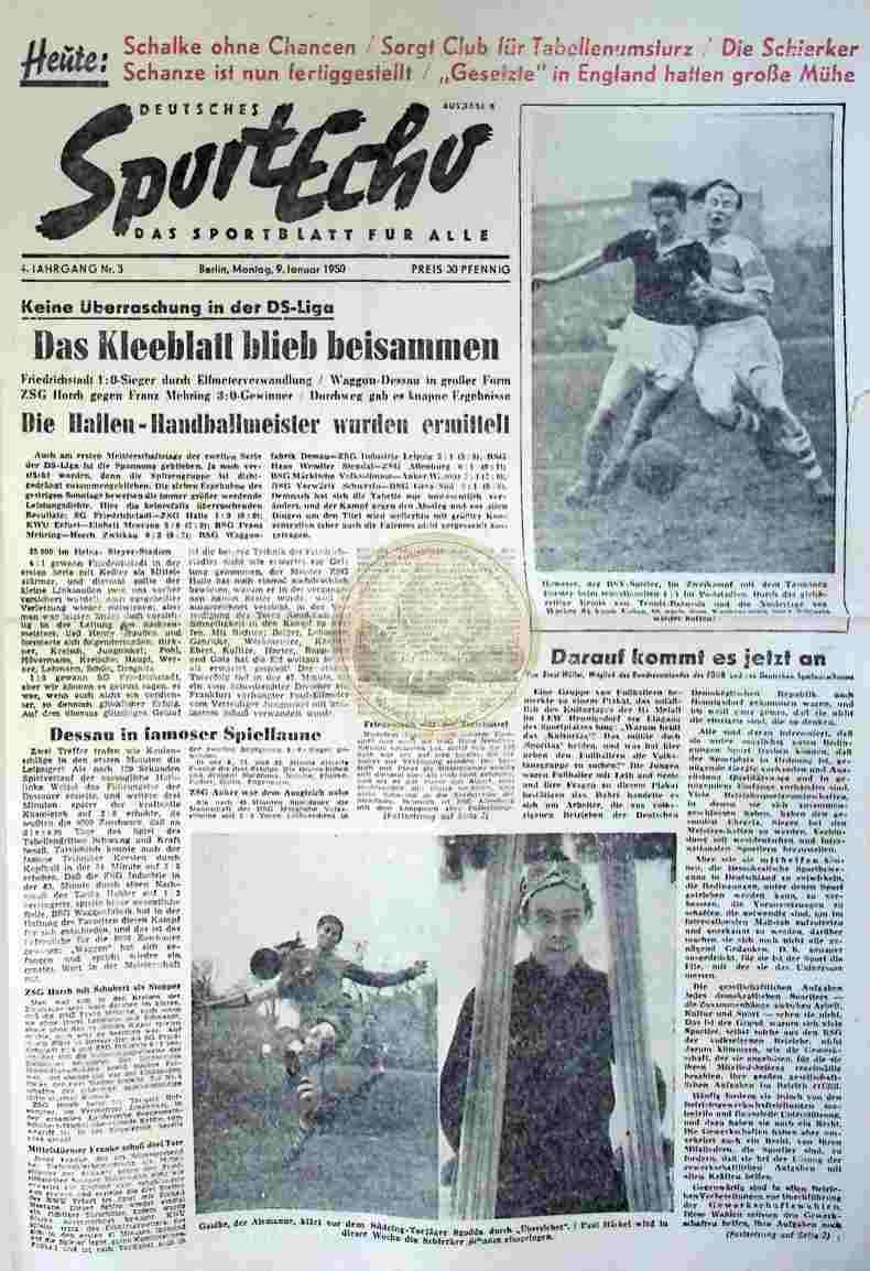1950 Januar 9. Sportecho Nr.3