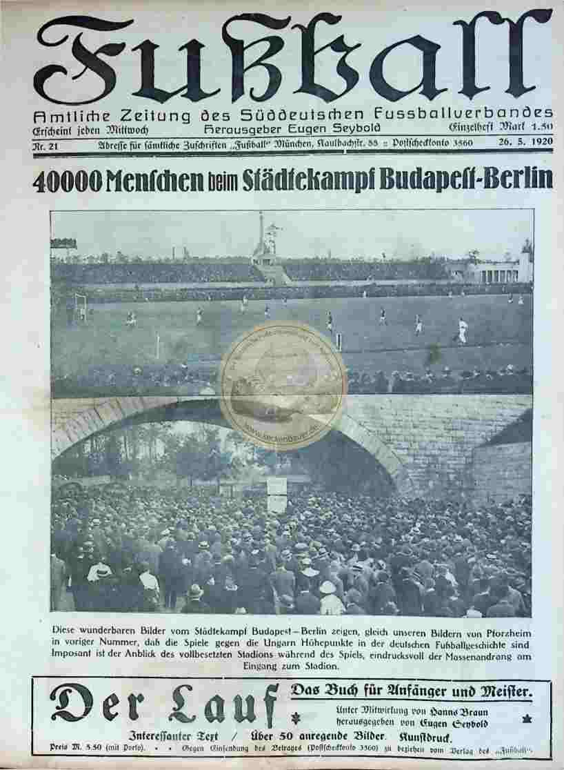 1920 Mai 26. Fußball Nr.21