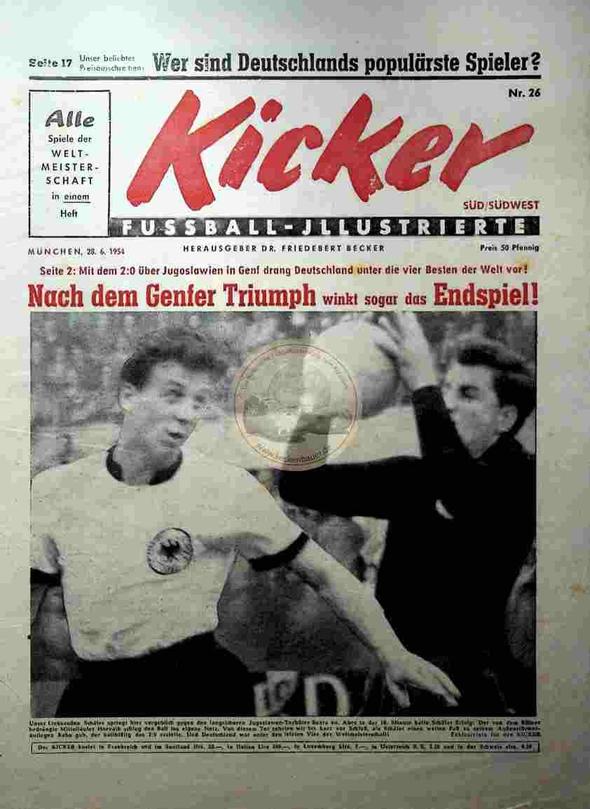 1954 Juni 28.. Kicker Nr.26