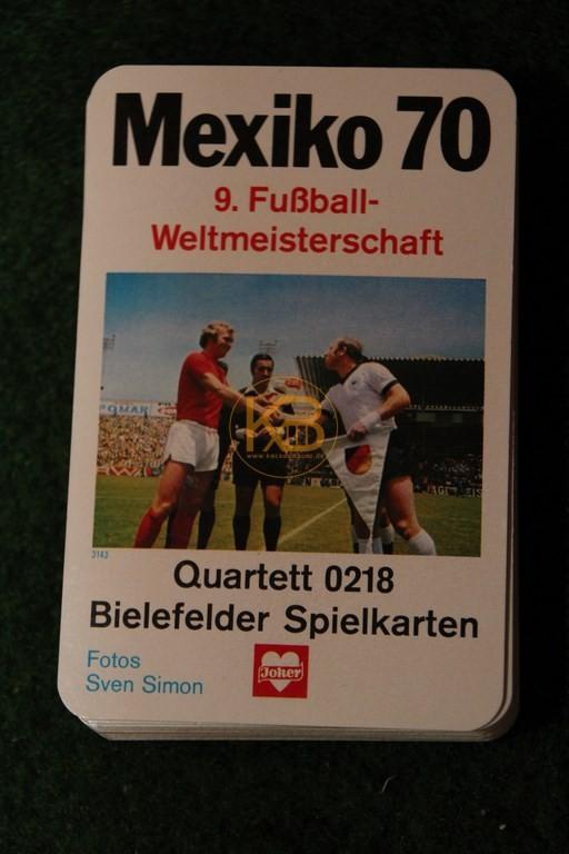 Mexiko 1970 9. Fußballweltmeisterschaft Quartett 0218 von den Bielefelder Spielkarten.