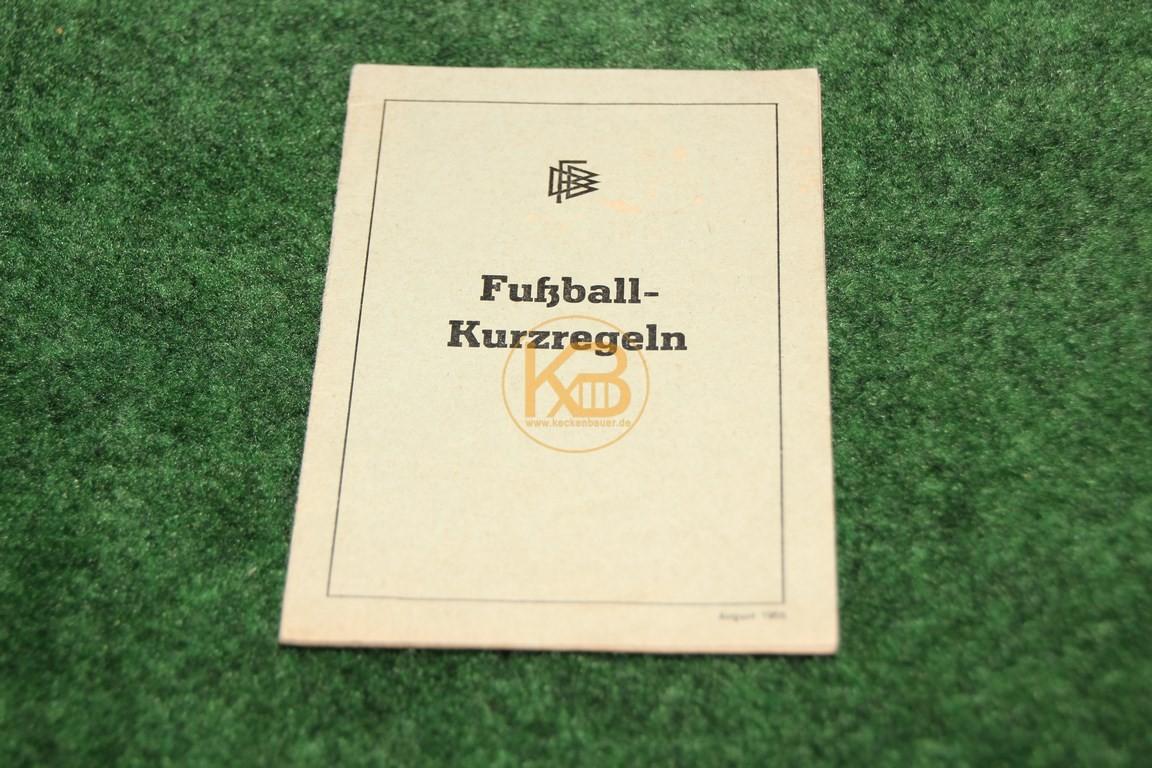 Fußball Kurzregeln