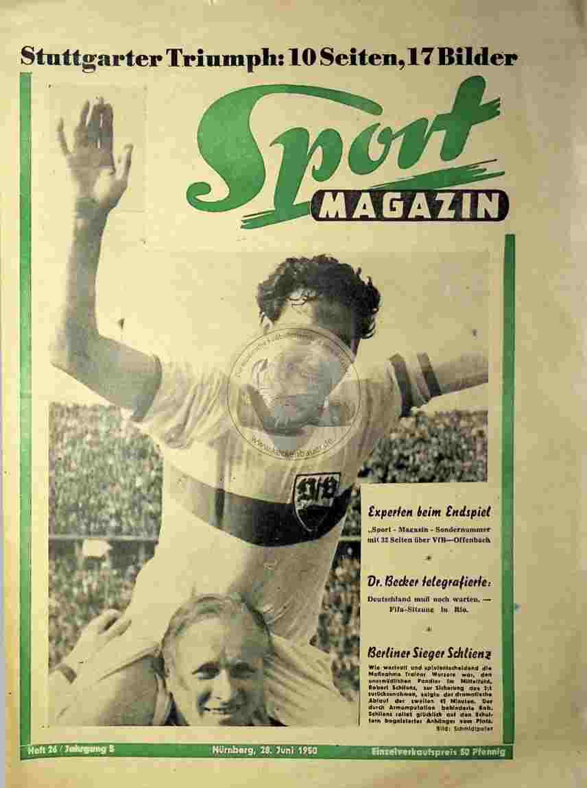 1950 Juni 28. Sport Magazin Nr. 26