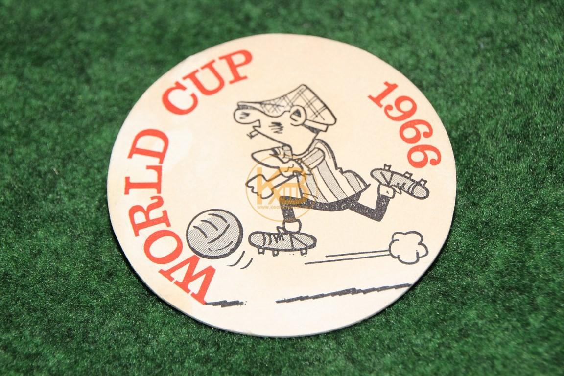 Bierdeckel zur Weltmeisterschaft 1966 in England.