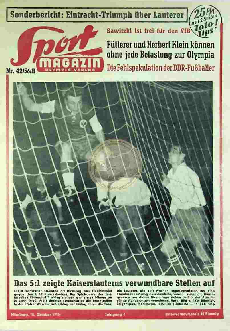 1956 Oktober 18. Sport Magazin Nr. 42