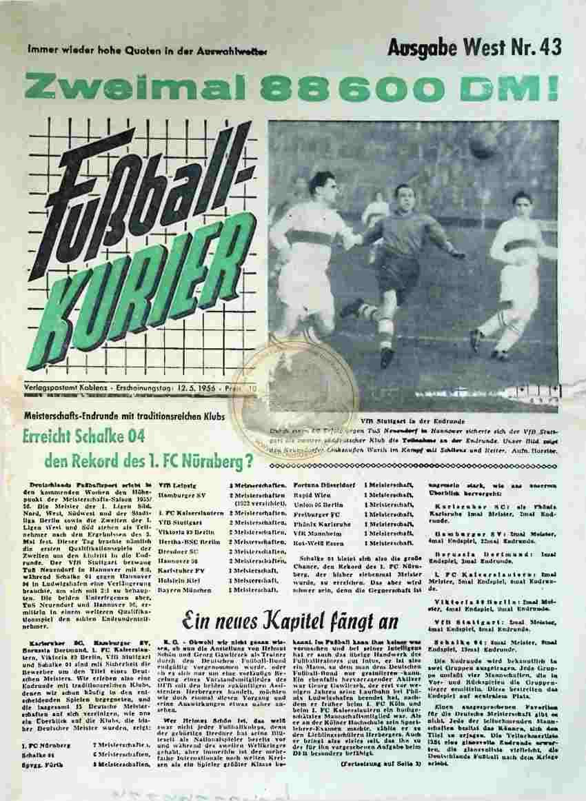 1956 Mai 12. Fußballkurier Nr. 43