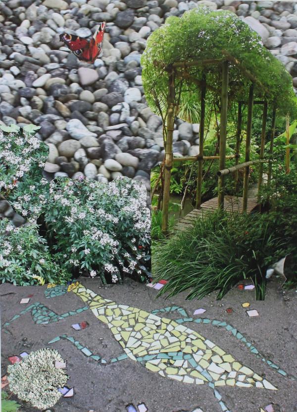 Jutta Hieret, Gartengestaltung 3, Fotocollage, 2020  | Wahr-nehmungen, Kunstwochen für Klimaschutz