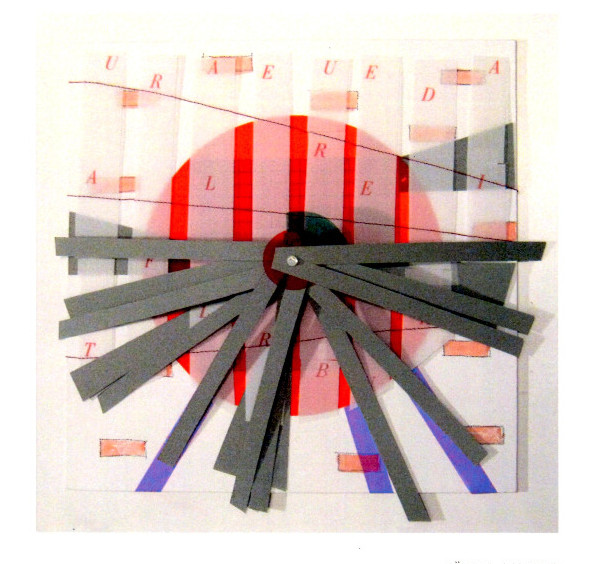 Bärbel Ambrus, Brandenburg: Stadtplanung, Collage, 2019, 32 x 32 cm
