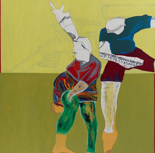 Isabell Reiling, Sportlerpaar IV, 2011, 100 x 100 cm