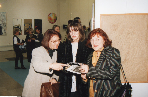 Vernissage Nancy 1995: Jutta Hieret, Brigitte Nowatzke-Kraft, Christa Kress