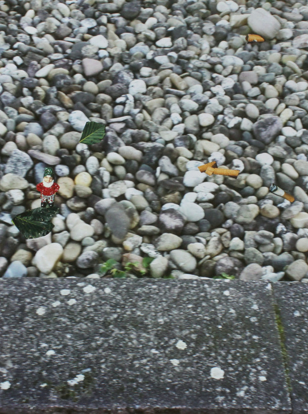 Jutta Hieret, Gartengestaltung 1, Fotocollage, 2020 | Wahr-nehmungen, Kunstwochen für Klimaschutz