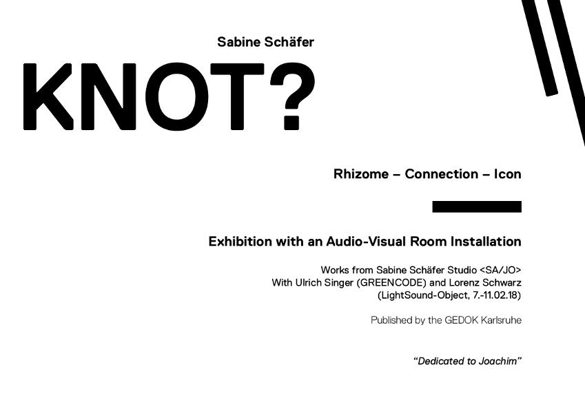 Sabine Schäfer, Catalogue WHY KNOT per QR-Code