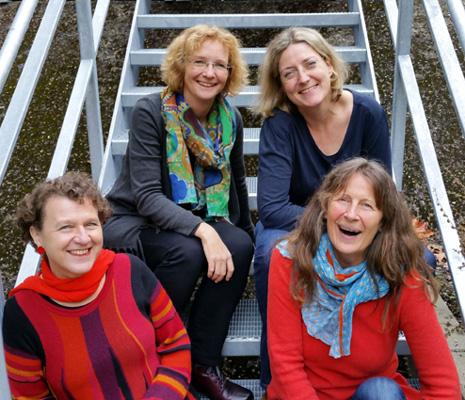 Neujahrskonzert 2017: Jeannette La-Deur,  Annelie Groth, Rita Huber-Süß, Ursula Zetzmann (hi li - vo re)