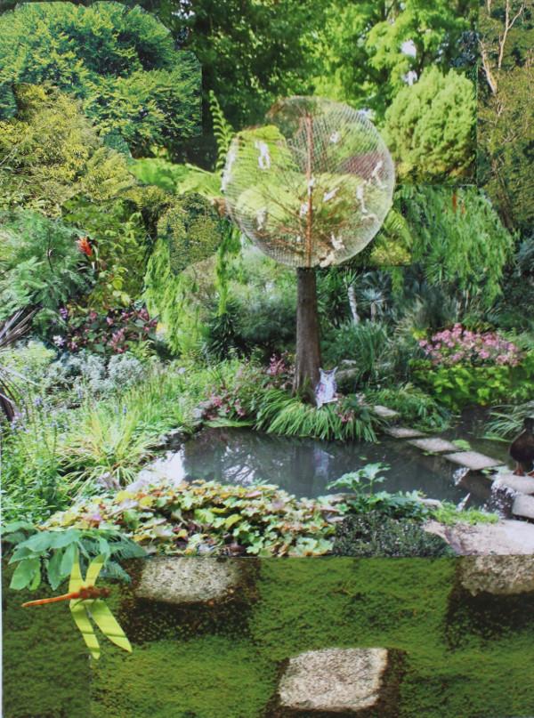 Jutta Hieret, Gartengestaltung 4, Fotocollage, 2020  | Wahr-nehmungen, Kunstwochen für Klimaschutz