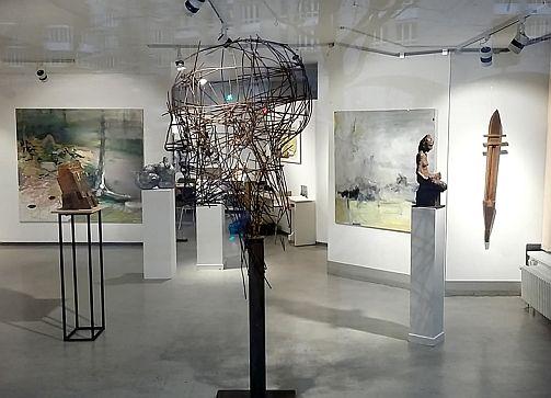 Cornelia Weihe, Blick in die Ausstellung, Foto: Cornelia Weihe