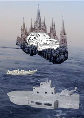 Myriam Schahabian, Fortress Europe - Festung Europa, Multimedia-Installatio
