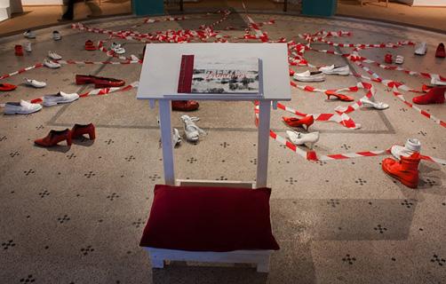 Installation FRONTIÈRES: Vérok Gnos – Gloria Keller – Hedi Schulitz