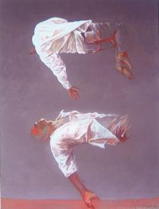 Louise Fritsch, Au delà des songes, 2008, huiles sur toiles/Öl auf Lw., 116 x 89