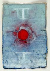 Monika Kaeser, Nice, 2004 Abformung selbstgeschöpftes Papier/ Gouache und Aquarell