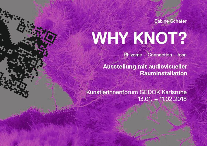 Sabine Schäfer, WHY KNOT?, Publikation zur Ausstellung, Deckblatt, Printversion