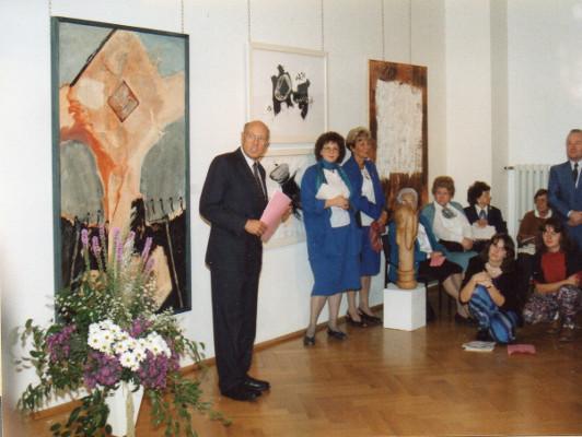 Frauenperspektiven in der Kunst 1991, Vernissage: Eröffnung OB Prof. Dr. Gerhard Seiler