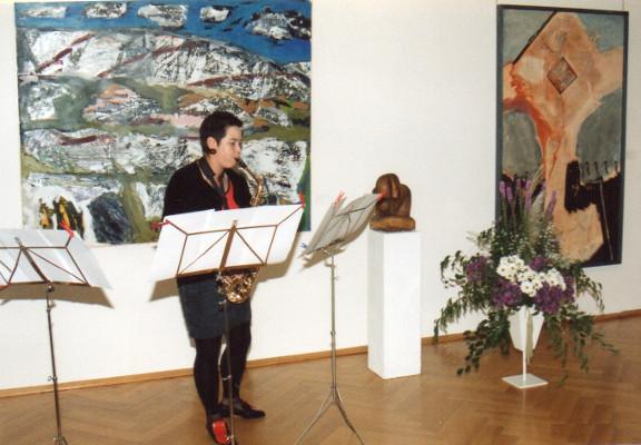 Frauenperspektiven in der Kunst 1991, Vernissage: Cornelia Rau, Saxophon