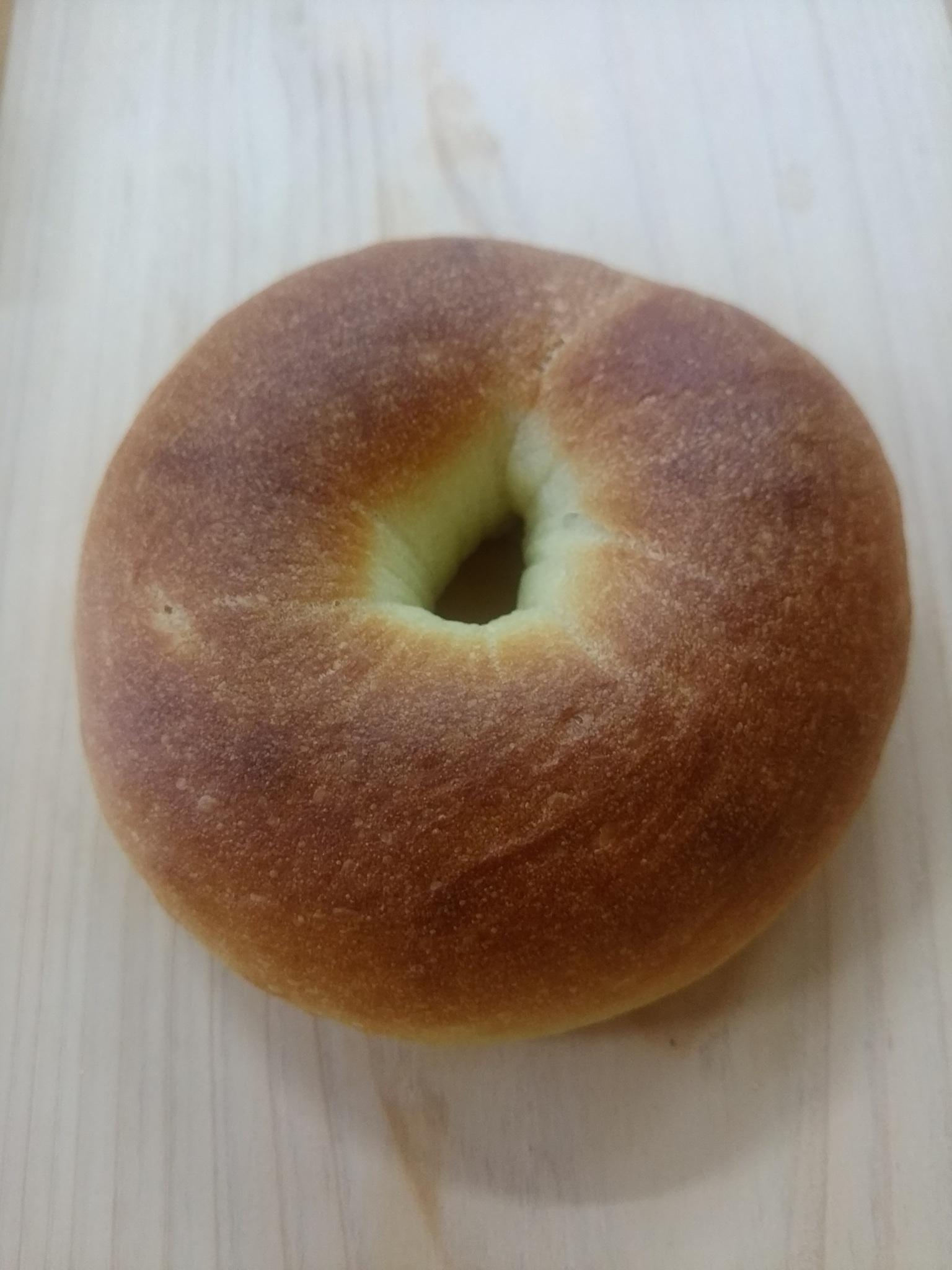 中津川 苗木 パン屋 パパン         プレーンベーグル 150円           米粉入り