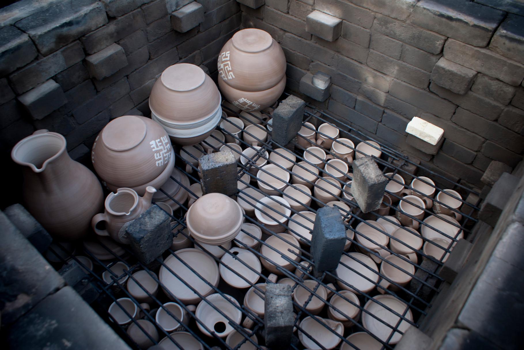 Packing the kiln- free stacking