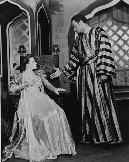 Paul Robeson als Othello mit Uta Hagen, New York 1943