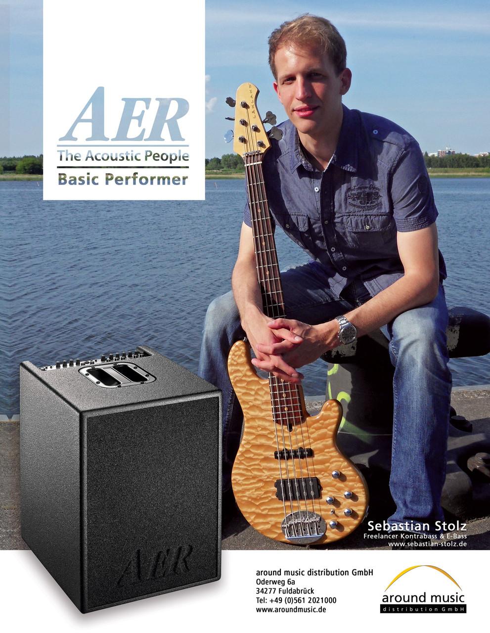Werbeanzeige für AER, Bass Quartely 2015