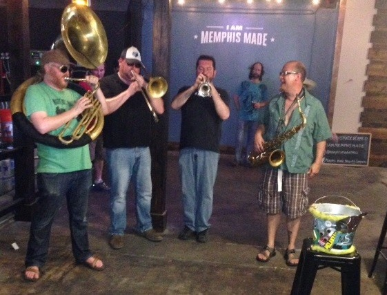 Mighty Souls Brass Band closing out Hopped 2015