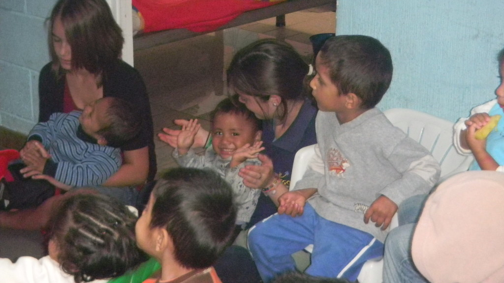 madi & danilo at the orphanage