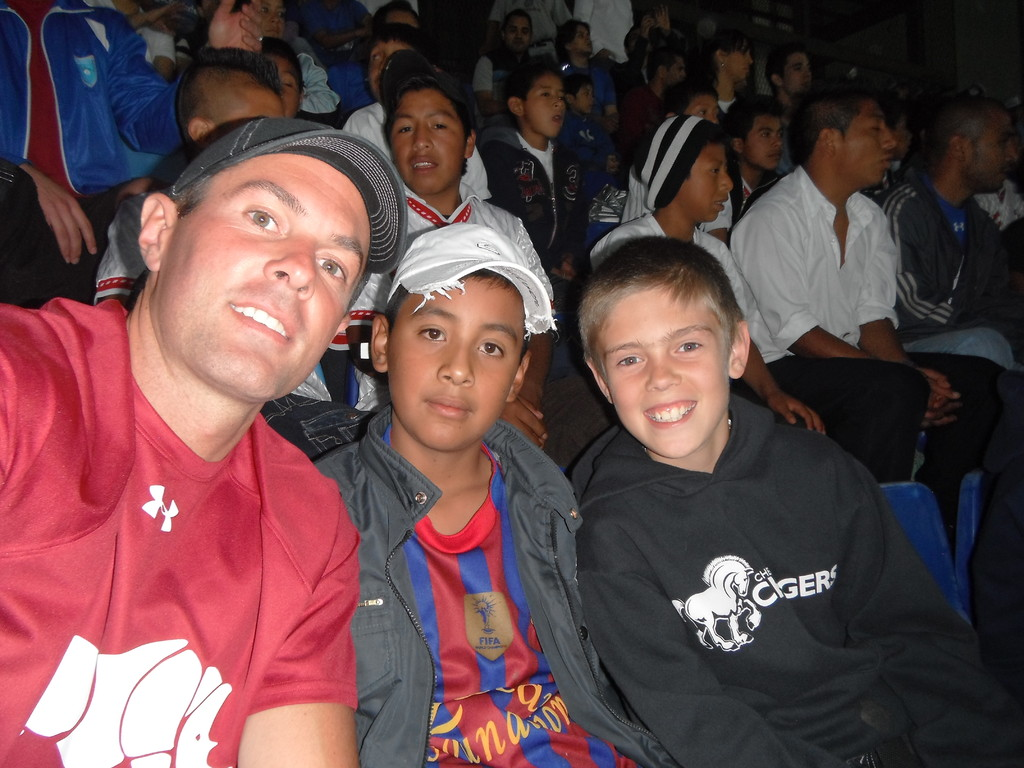 brock, pablo and jake at the USA vs GUA soccer game