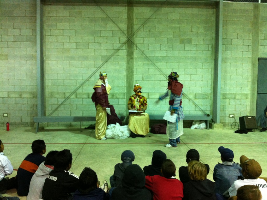 bvsa christmas party - brock, mynor, anthony doing a skit!